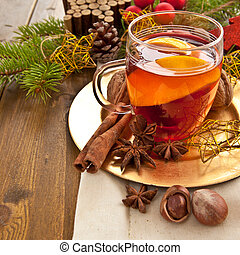 Hot beverage for christmas - Hot beverage with winter spices...