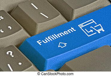 Hot blue key for fulfillment