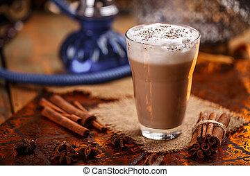 Hot chai latte