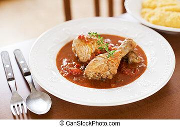 pepper stew - Hot chicken pepper stew close up shoot