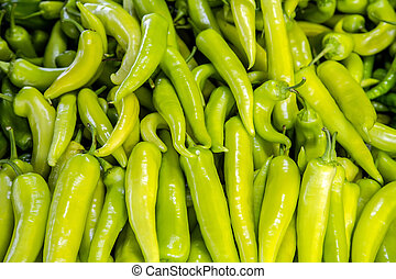 Hot Chili Pepper And Green Jalapeno