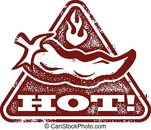 Hot Chili Pepper Stamp