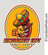 Hot Chili Sauce Emblem
