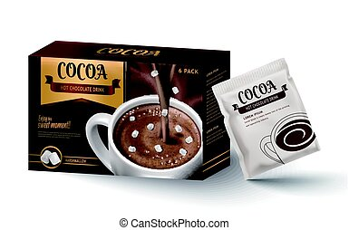 hot chocolate package design - hot chocolate paper box...