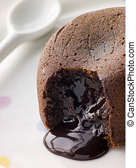 Hot Chocolate Pudding with a Fondant Centre
