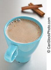 Hot chocolate with cinnamon