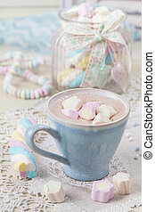 Hot chocolate with marshmallows - Hot chocolate with ...