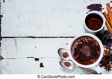 Hot chocolate with spices