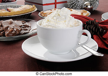 Hot chocolate with whipped crream