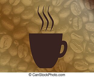 Hot Coffee Background