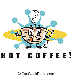 Hot Coffee Beverage Sign Clip Art