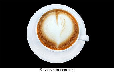 Hot coffee cappuccino latte
