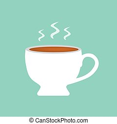 hot coffee cup icon- vector illustration