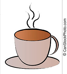 hot coffee cup symbol