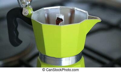 Hot Coffee from Moka Pot