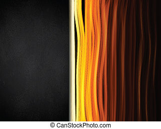Hot Colors Stripes Background with Black Frame