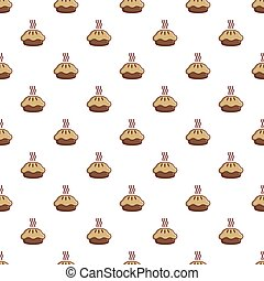 Hot cooked pie pattern