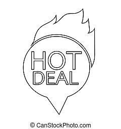 hot deal icon illustration design