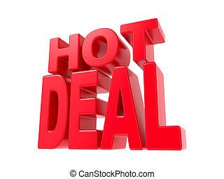 Hot Deal - Red 3D Text.
