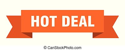 hot deal ribbon. hot deal isolated sign. hot deal banner