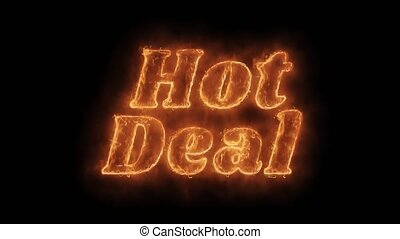 Hot Deal Word Hot Animated Burning Realistic Fire Flame...