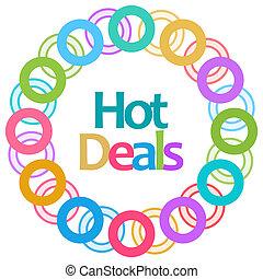 Hot Deals Colorful Rings Circular