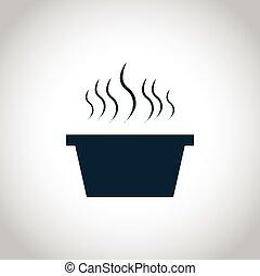 Hot dish black icon
