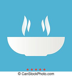 Hot dish icon . Different color .