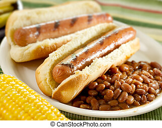 hot dog, barbecue
