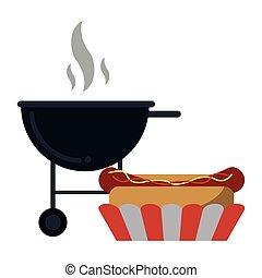 Hot dog bbq grill fast food
