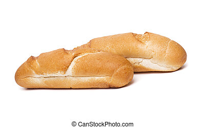 hot dog bread isolated on a white background