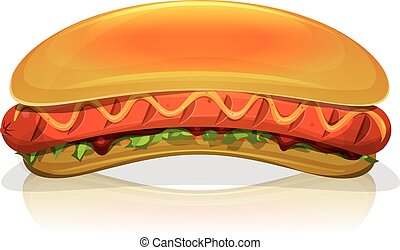 Hot Dog Burger Icon