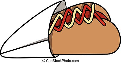 Hot dog cartoon