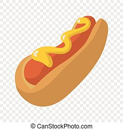 Hot Dog Cartoon Illustration