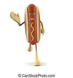Hot dog character