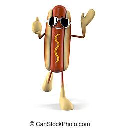 Hot dog character - 3d rendered illustration of a hot dog...