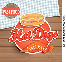 Hot dog concept.