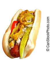 Hot Dog - Hot dog isolated on white