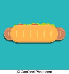 hot dog icon.