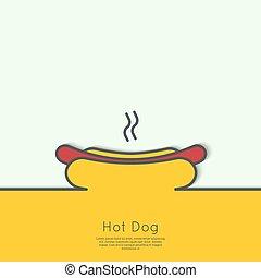 hot dog, icon.