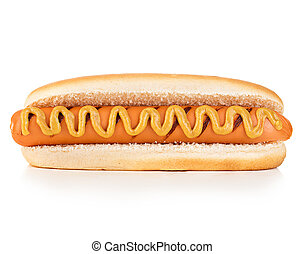 Hot dog isolated