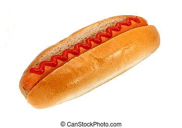 hot-dog, ketchup