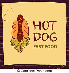 Vector logo for fast food.