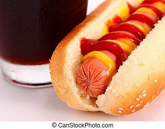 hot dog, napój