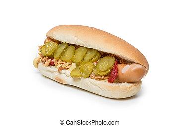 Hot Dog on white