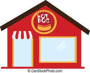 hot-dog, restaurant