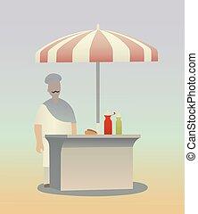 Hot dog seller