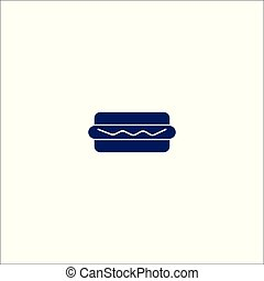 hot-dog, signe, isolé, symbole., icône