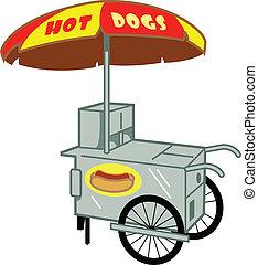 Hot Dog Stand Cart Vendor