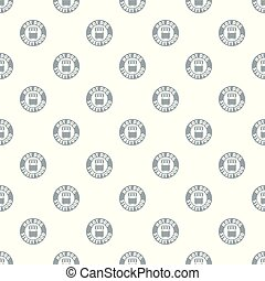 Hot dog stand pattern vector seamless